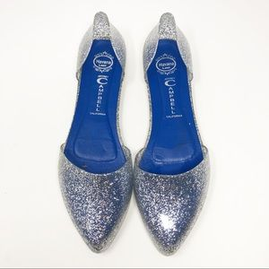 Jeffery Campbell Glitter Jelly Shoes - 9